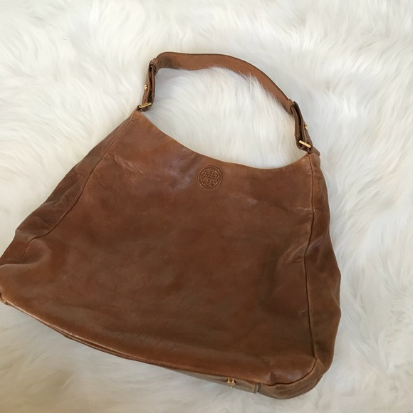 478f233f7029 Tory Burch Leather Hobo Shoulder Bag With Logo